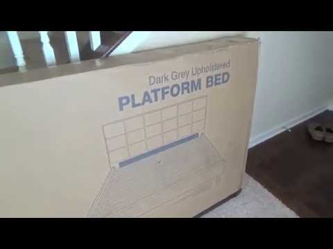 Zinus Sleep Revolution Platform Bed – Upholstered Queen Frame – Unboxing and Review