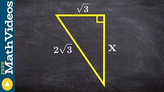 PC Unit 3 Find the missing side of a triangle using the pythagorean theorem