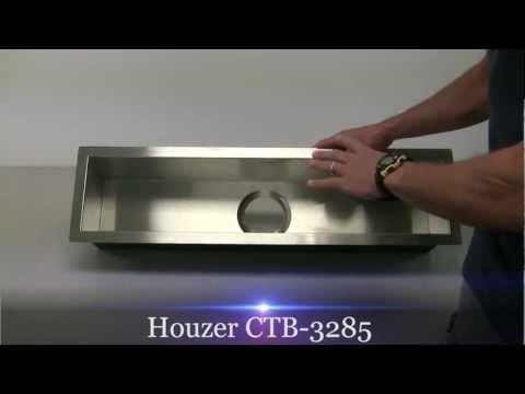 Houzer CTB-3285 Contempo Zero Radius Undermount Trough Bar Sink