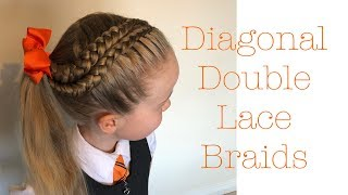 Diagonal Double Lace Braids Tutorial By Two Little Girls Hairstyles