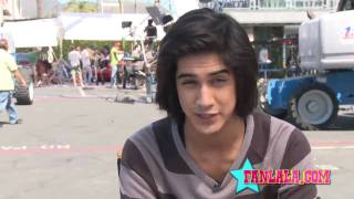 On Set Of Victorious With Avan Jogia
