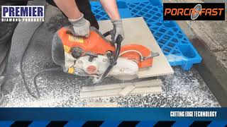 PORCA-FAST How to cut hard exterior porcelain paving tiles