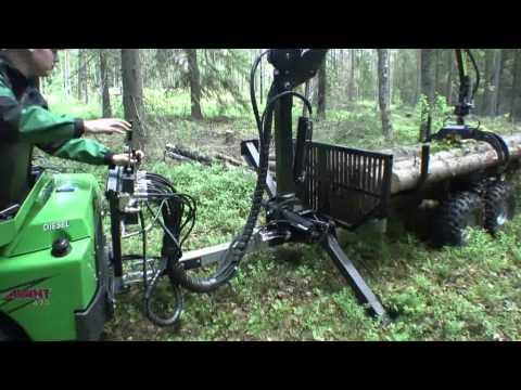 Avant Tømmervogn med kran - film på YouTube