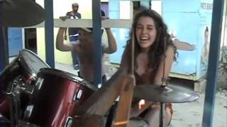 "Teenage Drummer Girl plays Reggae 1st Time"","