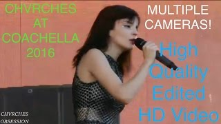 CHVRCHES LIVE COACHELLA 2016 The Mother We Share 1080p HD - edited footage HQ