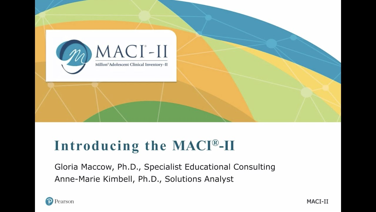 Introducing the Millon Adolescent Clinical Inventory – II (MACI-II) Webinar (Recording)