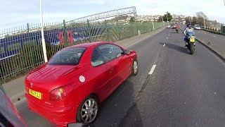 Insane Driver With Unrestrained Baby Uses Mobile Phone, Plymouth UK