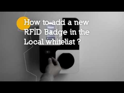 How to remove a RFiD badge from the local whitelist