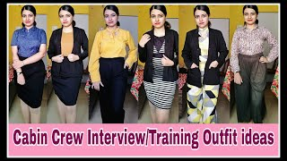 Cabin Crew Interview/Training Outfit Ideas | Takeoff With Samreen