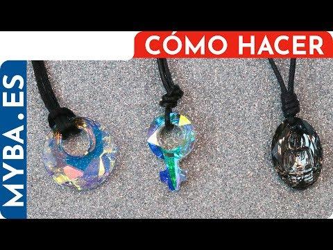3 Ideas fáciles para montar colgantes con cordones. Bisutería DIY.