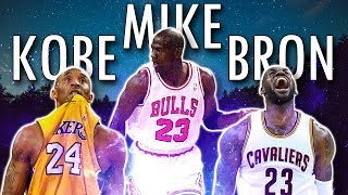 Jordan vs. Kobe vs. LeBron Mix! -The Transcendent Ones ft. Tupac