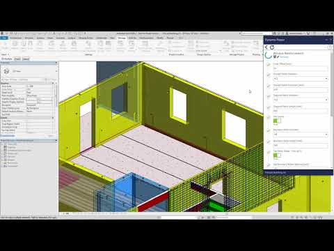 Revit 2019 Automated Process of Adding Reinforcements Demonstration