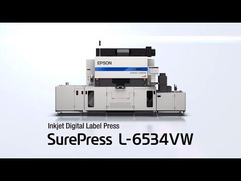 Prensa digital de etiquetas Epson SurePress L-6534VW | Tour del producto