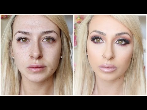 DRUGSTORE long lasting, flawless full coverage foundation routine (not cakey) | DramaticMAC