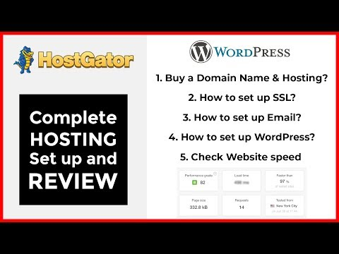 HostGator Shared Hosting review & setup in 2018 | Domain, hosting, SSL, Email Setup & Speed Test