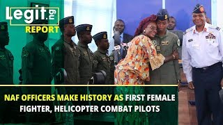 NAF Officers make history as first female helicopter combat officer