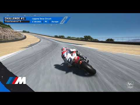 MotoGPバーチャルレース チャレンジ1 ベストラップ動画(ラグナセカ)