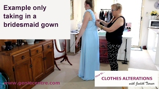 Sample Video Of Alteration To Bridesmaid Gown