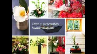 Ikebana PowerPoint Template by PoweredTemplate.com