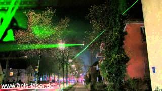 preview picture of video 'Lichtbrücke Aubing, Laser in Aubing'