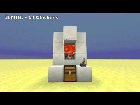 Cooked Chicken Farmtutorial 3x6x4 Minecraft Project