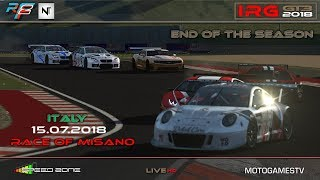 rFactor 2 – IRG GT3 2018 – ROUND 8 Misano, Italy - LIVESTREAM