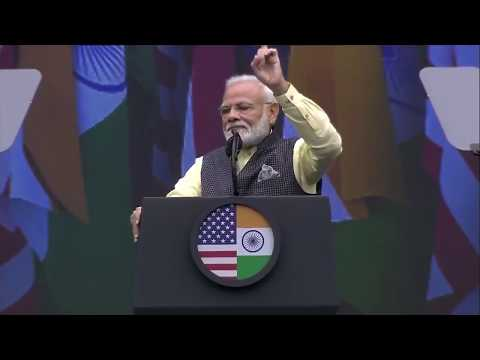 PM Narendra Modi addressing at Howdy Modi event : Indian community event in Houston, USA
