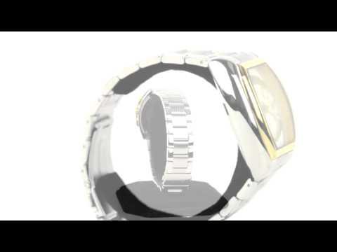 Kenneth Cole Classic Yellow Gold Bezel Barrel Watch - Bracelet (For Men)