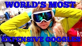 WORLD'S MOST EXPENSIVE GOGGLES - SHOPPING FOR SKI & SNOWBOARD GEAR