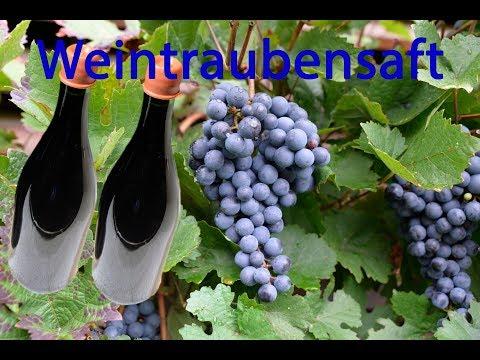 Weintraubensaft aus dem Dampfentsafter