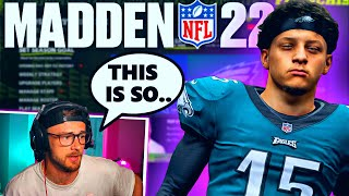 Yoboy Pizza Plays NEW Madden 22 Franchise for the First time and..