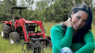 WOMAN VS. TRACTOR!! HOW TO Drive a Tractor for A Beginner