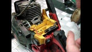 Бензопила глохнет при нажатии на газ №2 РАБОТАЛА БЕЗ ФИЛЬТРА/Chainsaw stalls when pressing on gas