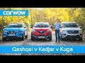 Nissan Qashqai vs Renault Kadjar vs Ford Kuga 2019 See which is the best mid size SUV