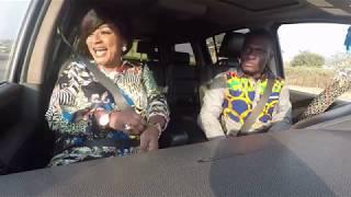 Ellen Kyei White On Celebrity Ride With Zionfelix Show