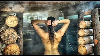 3 YEARS ALONE OFF GRID | HOT WATER SHOWER in the FOREST - BUSHCRAFT OUTDOOR SHOWER Evolution