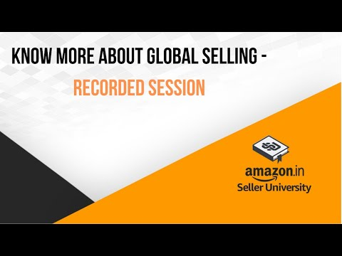 How to sell internationally from India with Amazon Global Selling Program (English)!