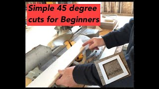 How to cut basic 45 degree angles