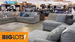 BIG LOTS HOME FURNITURE SOFAS COUCHES ARMCHAIRS CHAIRS DECOR SHOP WITH ME SHOPPING STORE WALKTHROUGH