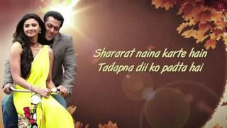 Tere Naina Full Song with Lyrics Jai Ho Salman   - YouTube