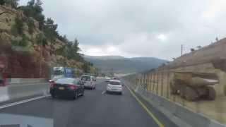 preview picture of video 'הרחבת כביש 1 לירושלים - הקטע בין צומת שורש למחלף חמד - תיעוד הרחבת הכביש. אפריל 2014'