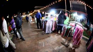 preview picture of video 'Nightmarket in Thailand (Nong Khai) Fisheye View'