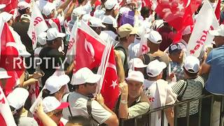 LIVE: Opposition supporters end 450km protest march with rally outside Istanbul's Maltepe prison