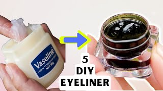 5 Homemade MAKEUP EYELINER | Easy MAKEUP EYELINER Recipe Ideas For DIY Cosmetics | EYELINER
