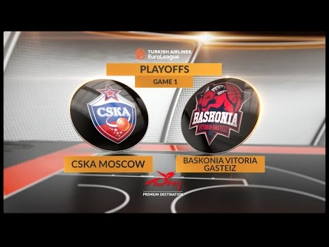 EuroLeague Highlights Playoffs 1: CSKA Moscow 98-90 Baskonia Vitoria Gasteiz