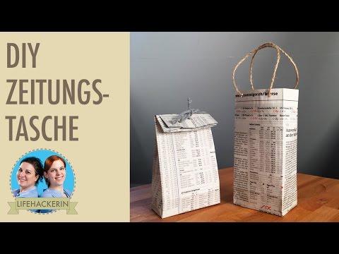 Tüten basteln | Papiertüte aus Zeitungspapier