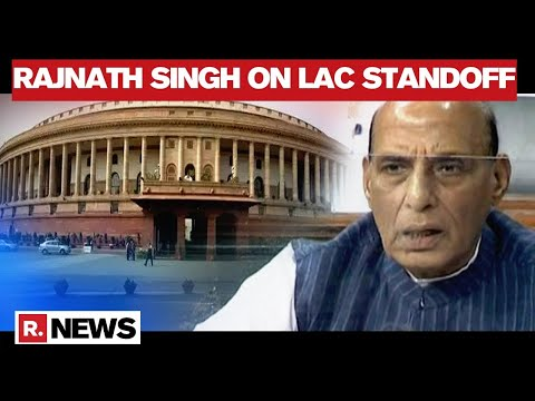 Defence Minister Rajnath Singh Addresses Parliament On The Situation At Ladakh