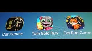 Tom Gold Run Vs Cat Runner Vs Cat Run
