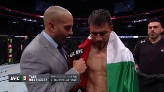 UFC Boston: Yair Rodriguez Octagon Interview