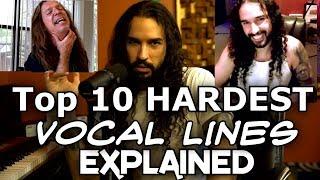 Top 10 Hardest Vocal Lines Explained   Ten Second Songs Voice Teacher Ken Tamplin Reacts